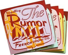 charles s. anderson design co. | Dispelling the Rumor Mill #promotion #csa #paper #french