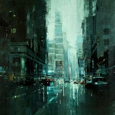 Jeremy Mann's Cityscapes | http://off-the-wall-b.tumblr.com/ #city #jeremy #mann #painting