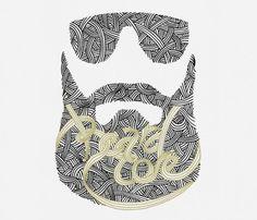 Beardcore (mkn design - Michael Nÿkamp) #words #beard #core #sunglasses #beardcore #illustration #drawn #pen #hand #sketch