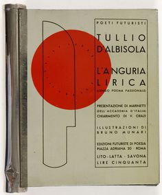 The revolutionary tin of futurist books | Italian Ways #book #cover #futura #layout #typography