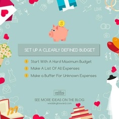 There are numerous ways to save money abound, starting by setting a clearly defined budget on your venue, catering, dresses, and even entertainment.