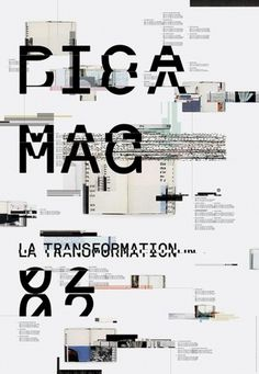 PICA MAGAZINE POSTER / JACKET on the Behance Network