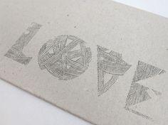 handlettering9747.jpg (JPEG Image, 850x638 pixels) #lettering #hand #love #cardboard
