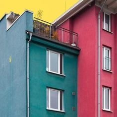 Hamburg Architecture in Pop Colors by Ali Sahba