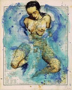 Atlas by Fernando Vicente | InspireFirst #illustration #maps #artworks