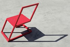 Sit On the Edge of Your Seat with the 60 Red Chair #chair