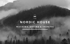 Nordic House #white #branding #black #and #mountains