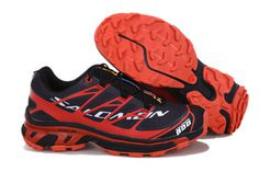 Salomon S-LAB XT5 Black Red Running Shoe #shoes