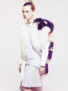 MOONMUD #model #white #fur