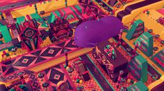 Psychic Land on Behance #colours #geometric #behance #psychic #2viente #3d