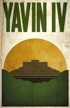 All sizes | Yavin IV | Flickr - Photo Sharing! #design #wars #poster #star #minimalist