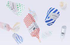 Gorky Park Icecream on Behance #pattern #branding #packaging #spots #stripes #cream #identity #ice