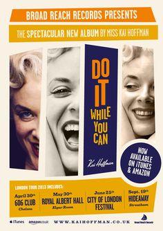 Poster for Kai Hoffman tournée #poster #vintage #swing #jazz #micheletenaglia