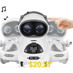 Electric #Multi-function #Voice #Intelligent #Mini #Pocket #Robot #- #WHITE