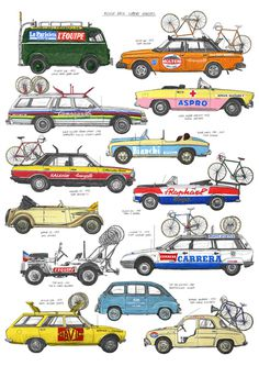 Tumblr #illustration #cars #bicycle carriers