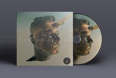 "Laila_EP ""Cuento de Oro"" on Behance #album #design #graphic #cover #strange #disc #art #skull #knife #death #typography"