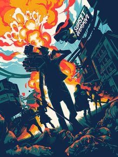 #SunsetOverdrive #illustration #colors #blast #game