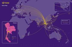 Flight route map #mandala #route #flight #infographic #design #graphic #map #thai #studio #airways