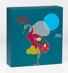 lovely-package-ren-skincare-5 #packaging #illustration #crane