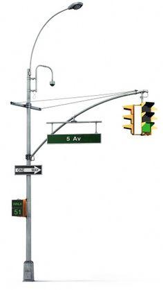 Luxofor design concept #nyc #art lebedev #luxofor #traffic light