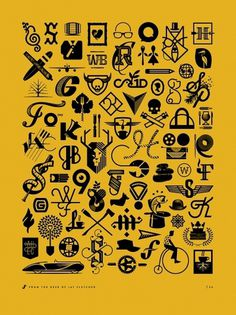 Dribbble - JFD_ICONS_PROMO_PRINT.jpg by J Fletcher Design #logos #print #yellow #icons #jay #fletcher #logo
