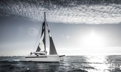 yacht on the sea