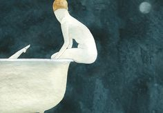 elena odriozola - (3) #illustration #bath #body #nude
