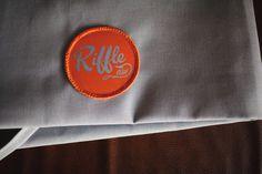 RIFFLE NW on Behance #riffle #badge #design #orange #nw #uniform