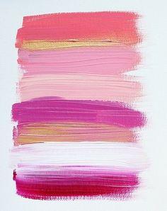 e s t h e r #art #abstract #paint #pink #acrylic #stripes
