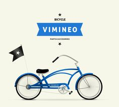 Vimineo logo design. #bicycle #cruiser #retro #star #ribbon #logo