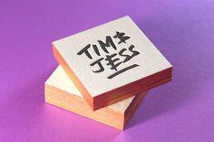 Tim & Jess #edge #lettering #print #letterpress #bronze #metallic