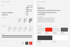 Fraher architects by Freytag Anderson #red #blue #brand design #guidelines #graphic design
