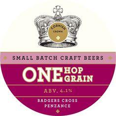 Cornish Crown Pumpclip #packaging #beer