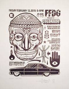 "Juxtapoz Magazine - Mike Giant ""Colorado"" @ FFDG, SF #giant #mike #colorado #illustration #type"