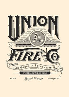 Union Fire Co #banner #lettering #identity #fire