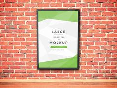 Poster Artwork Frame PSD Mockup