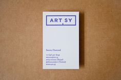 ARTSY identity design by Common Name #business #branding #card #print #commonname #artsy #stationery #logo