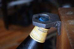 Bottle Opener Mount : Handcrafted Steel #beer #design #product