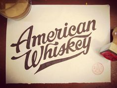 typeverything.com, Joseph Alessio #whiskey #lettering #american #vintage #type #typography