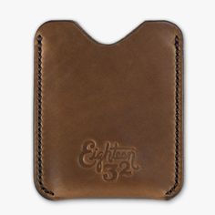 Simple Cardholder - Austin Pecan Leather — Eighteen32 #wallet #eighteen32 #cardholder #handmade #leather #horween #chromexcel #money #stitched