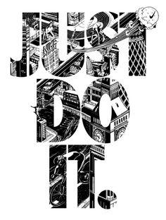 Nike Just Do It type #london #nike #white #black