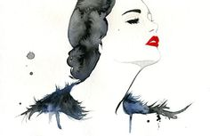 Watercolor Fashion Illustration   Girl Gone Gatsby print