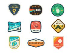 Land Of Nod Badges #badge #shape