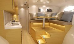 Yacht with modern and luxury interior