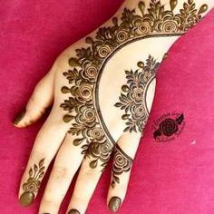 Side pattern Mehendi Design Ideas