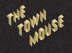 The Town Mouse by A Friend of Mine Studio