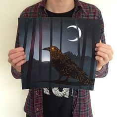 Kieran Gabriel — Flight Night #print #bird #night #illustration #poster