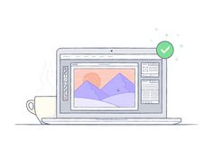 Mountain Photo Synced #macbook #icon #illustration #photoshop #coffee