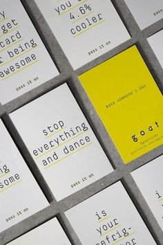 wearegoat.com » pass it on #design #cards #goatcards #typography