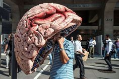 Human brain creative phone booth #phone #public #booth #art #street #exterior #telephone